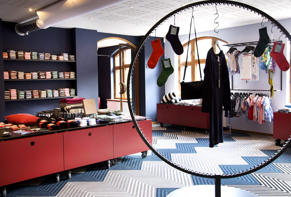 Butik og café på Tekstilmuseet